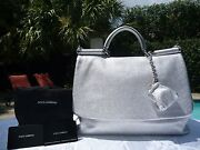 Dolce And Gabbana Miss Sicily Softdeer Skin Soft Tote-2345-sold Out-rare-nwt