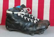 Vintage 1930s Leather Soccer Football Boots Rugby Shoes Stacked Cleats 9 Antique