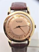 Vintage 14k Gold Wittnauer Mens Automatic Watch 1960s Cal.11ark Exlnt Serviced
