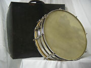 Ludwig-vintage 15 X 5 1930and039s Snare Drum Calfskin Gut Snares
