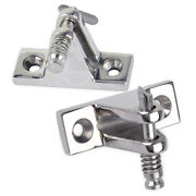 2 X Bimini Top Deck Hinge W/ Quick Release Pin90 Degree Stainless Steel Boat New