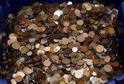 A Nice Unsearched Lot Of Nice Mix Of World Foreign Coin Over 2. Lb And Gift Added