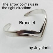 Taxco 925 Sterling Arrow Cuff Bracelet Points You In The Right Direction 24 Gram