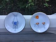 """And Set Of Two 4"""" Perlee Frivole Porcelain Ring Trays"""