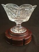 Mint W/stand Waterford Crystal Scallop Edge Master Cut Footed Centerpiece Bowl