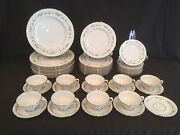 52 Piece China Set By Lenox In The Brookdale Raised Flowers Service For 9+