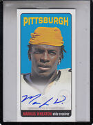 2013 Topps Marcus Wheaton Tall Boy Pittsburgh Steelers Rc  Auto Autograph