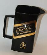 Johnny Walker Black Label Mug Pitcher Collectible Seton Pottery Osbornes Collect