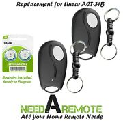2 For Linear Act-31b Mini Remote Control Ld033 Ld050 Ls050 Garage Door Key Chain