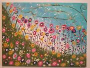 Oil Paintings On Canvas Blooming Life Extra Large Framed White Flowers Wall Art