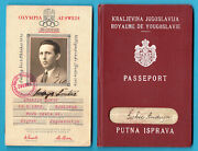 Olympic Games Berlin 1936 Original Vintage Official Olympics Id Card + Passport
