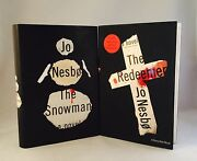 Jo Nesbo-2 Books-both Signed-first U.s. Editions/1st Printings-snowman-redeemer