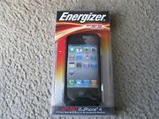 Energizer Ap1201 Silicone Case W/built-in Rechargeable Battery For Iphone 4 And 4s