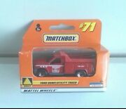 Ford Dump Utility Truck Matchbox Red No 71 1/64 Approx New In Box Read