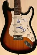 Foo Fighters Signed Guitar Dave Grohl Autographed With Rare Hand Sketch Nirvana