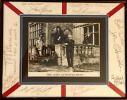 The Who Signed John Entwhistle Band Autographed Photo Display -townshend Daltrey