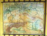Antique Old School Map Pull-down Wall Chart Middle Europe Continent Poster Print