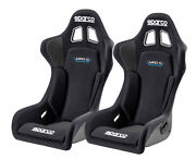 Pair Sparco Grid Q Racing Bucket Seat - Black Fabric - Fia Approved