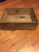 Antique Sunny Monday Laundry Soap Wooden Shipping Crate Advertising Primitive