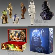 Xmas Christmas Tree Hanging Decor Set Of Two Boxes Star Wars Handmade From Glas