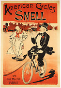 American Cycles Snell - Original Vintage Bicycle Poster - Cycling