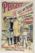 Peugeot Vintage Bicycle Poster - Cycling - Guillaume