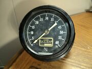 Vintage 4-1/2 Dial Ashcroft Wall Mounted 0 To 60 Duplex Gauge W/ Two Pointers