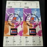 1993 Nba First Round Playoffs Phoenix Suns Vs. La Lakers 2 Game 5 Full Tickets