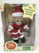 New 2000 The Precious Moments Baby Collection Santa Clause Luv N' Care