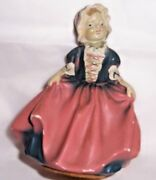 Antique Coventry Ware Chalk Girl Figurine, Coventry, Portage Lakes, Barberton Oh