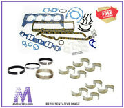 Gm Chevy 454 V8 Mark Iv Marine Engine Re-ring Rebuild Kit Std Rot With Carb