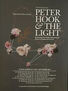Peter Hook And The Light 2013 North American Tour Poster Signed By Peter Hook
