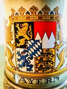 Rare Find Estate Fresh Gerz Bayern Coat Of Arms Ceramic Stein Made In Germany