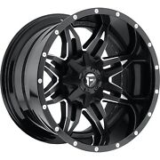 20x10 Fuel Lethal Rims Black Offroad Wheels 37 Mt Tires Fit Lifted Chevy Ford 22