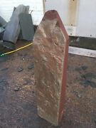 St Bees Sandstone Monolith 98cm Tall Drilled Water Feature.
