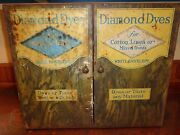 Antique Tin Diamond Dyes General Store Advertising Cabinet C1800and039s Display Case