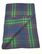 Blanket Plaid 50 X 68 In 100 Blue Green Red Yellow Throw Blanket