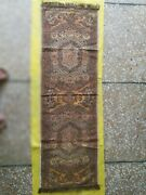 Antique Trukish Handmade Table Cloth Almost 100 Years Old With Silver Work