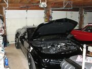 Just The Hood 2010-13 Ss Camaro - Black With White Stripes Excellent Condition