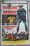 Lone Ranger And The Lost City Of Gold Orig 1958 Movie Poster Exc Cond