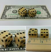 Antique Pair Of Loaded Dice / Die Cheater Casino Dice - Made Of Bone Or Wood