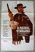 A Fistful Of Dollars 1967 Very Rare Style A Advance 1-sht Unused Mint