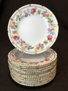 Royal Crown Derby Melody Gadoon Scalloped Bread Plates 6 1/4 Set 12 Rose Gold