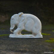 Elephant Carved 86x63mm In Moose Antler Bali Carving St612 Table Decor