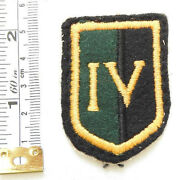 Military 4th South African Infantry Battalion Iv Sai Cloth Formation Badge 4542