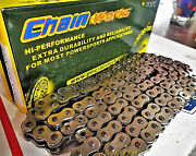 Motorcycle Atv Mx Chain 130 Links Self Cleaning Chrome Quad-press Plates A+++