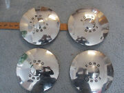 Set Of 1949 1950 Ford Dog Dish Hubcaps Driver Quality Some Dings And Scuffs 1951