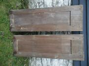 2 Antique Cabinet Doors Cupboard Vintage Pair, Pegged Joints, 55 5/8 18 1/2