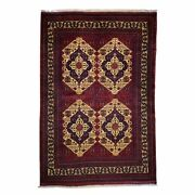 Barkat Rugs Hand-knotted Belgic Turkoman Tribal Wool Size 6.7 X 9.3 Brral-2655
