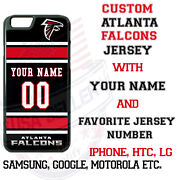 Atlanta Falcons Jersey Phone Case Cover For Iphone Samsung Etc Nameandnumber